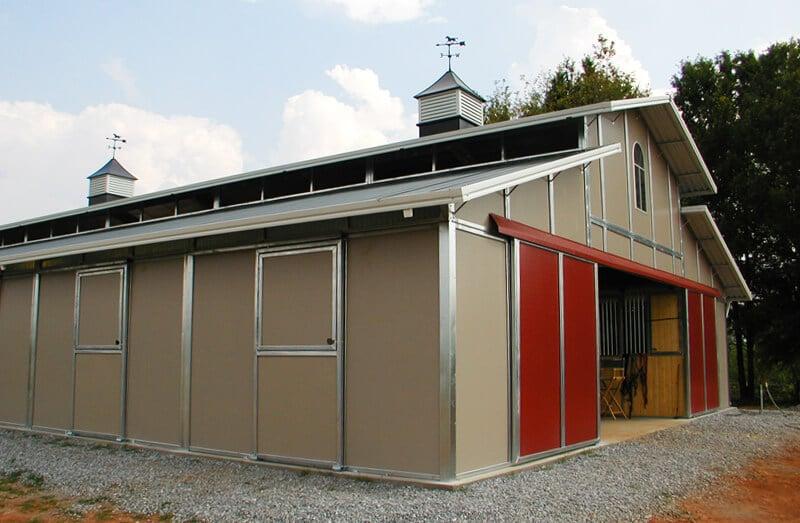 Custom Designed Modular Barns And, Prefab Garages With Living Quarters Washington State